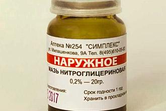 Форма выпуска мази нитроглицериновой