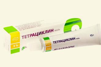 Упаковка мази тетрациклиновой